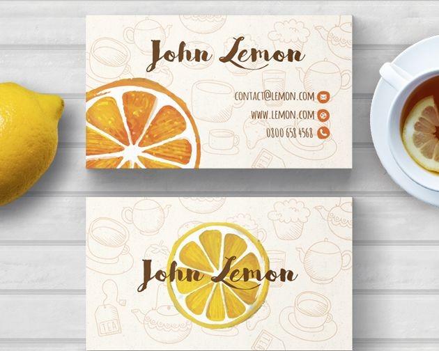 business card lemon 50 free PSD business card template designs