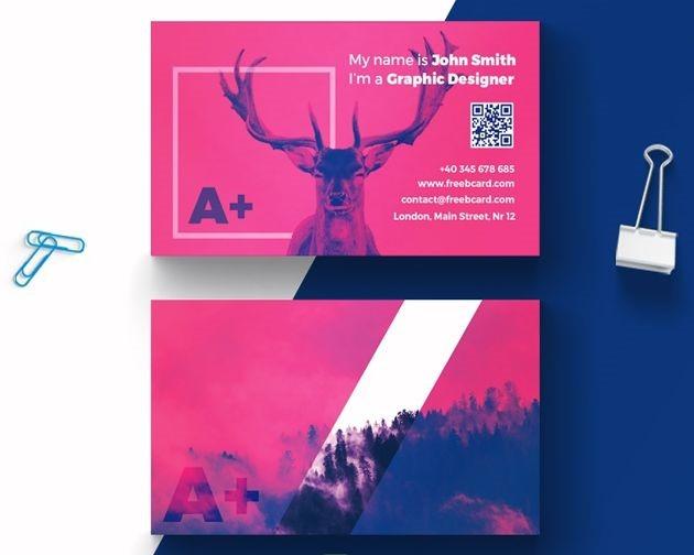 deer business card 50 free PSD business card template designs