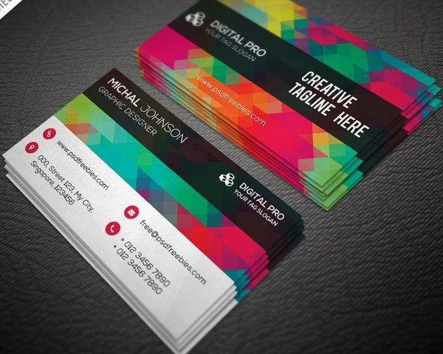 multi color buisness card 50 free PSD business card template designs