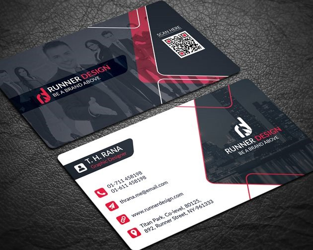 50 free psd business card template designs creative nerds free business card download runner design accmission Images