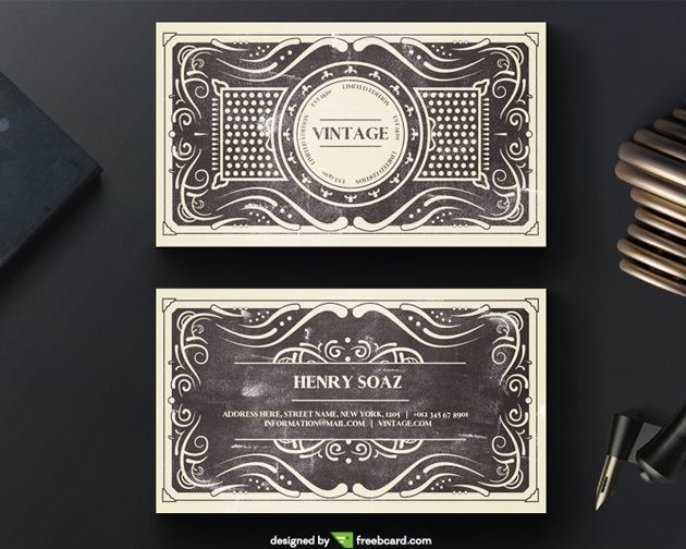 50 free psd business card template designs creative nerds vintage business card reheart Images