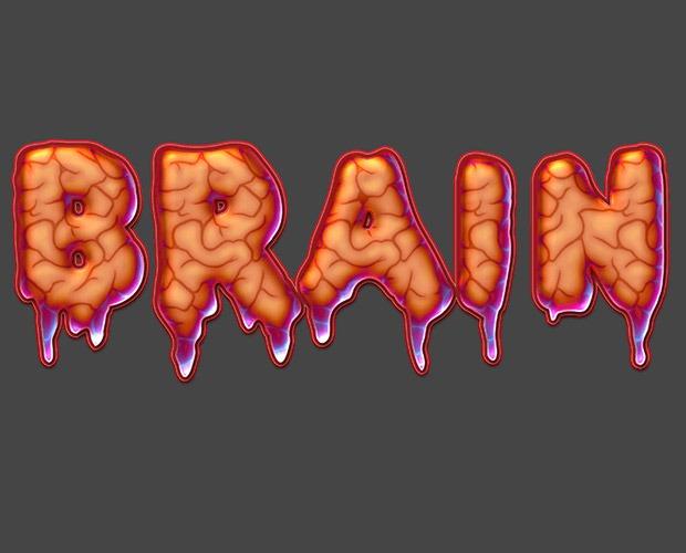 brain-text-effect