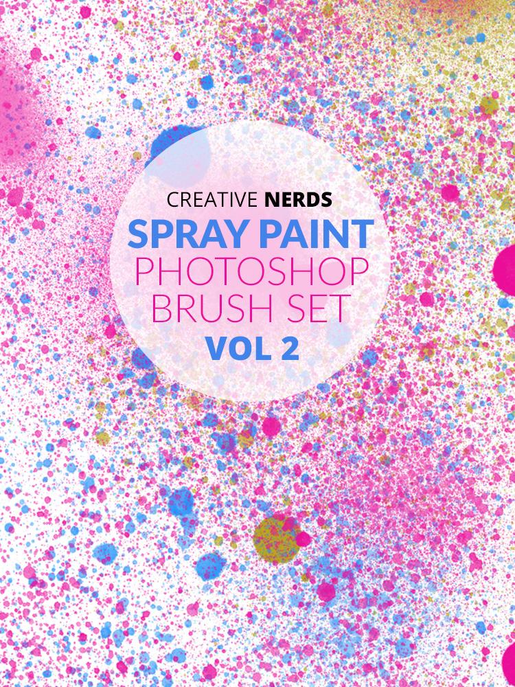 Spray paint high-res free Photoshop brush set edition 2 | Creative Nerds