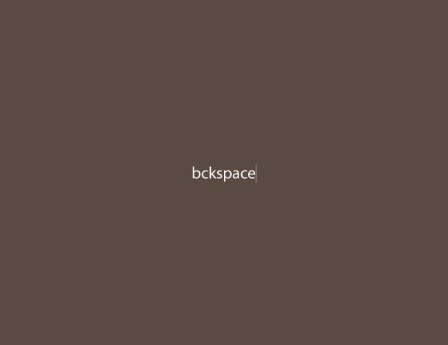 bckspace