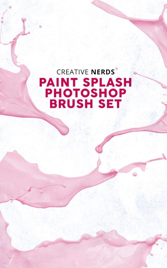 Paint splash free Photoshop brush set | Creative Nerds