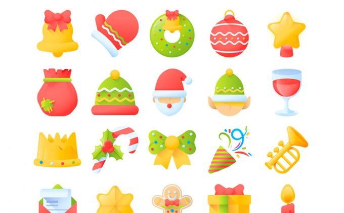 50 Free Christmas icons set | Creative Nerds